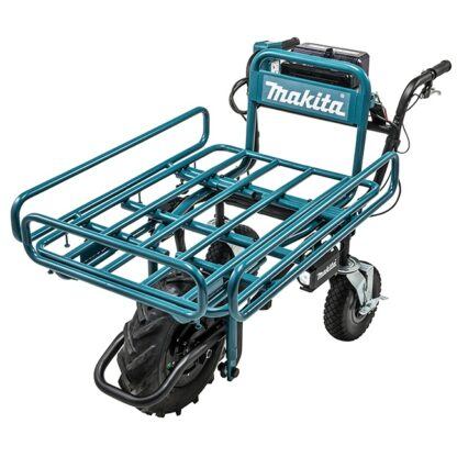 Makita DCU180ZX1 18Vx2 LXT Power-Assisted Brushless Wheelbarrow with Flat Dolly
