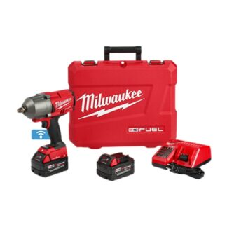 """Milwaukee 2863-22 M18 FUEL High Torque Impact Wrench 1/2"""" Friction Ring with ONE-KEY Kit"""