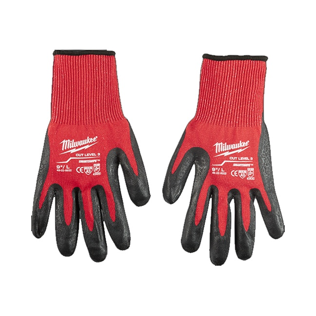 Milwaukee 48-22-8932 Cut Level 3 Dipped Gloves - Large