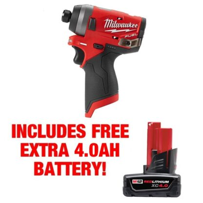 Milwaukee 2553-20 M12 FUEL 1/4″ Hex Impact Driver