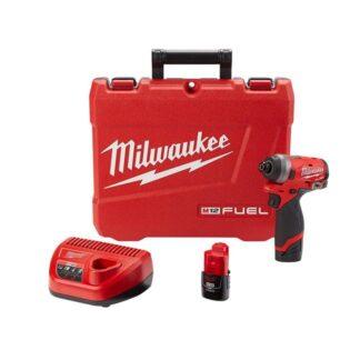 "Milwaukee 2553-22 M12 FUEL 1/4"" Hex Impact Driver Kit"