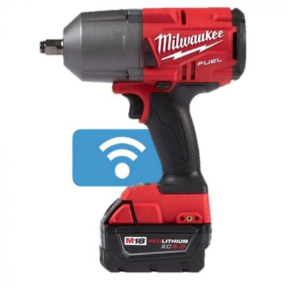 "Milwaukee 2862-22 M18 FUEL High Torque Impact Wrench 1/2"" Pin Detent with ONE-KEY Kit"