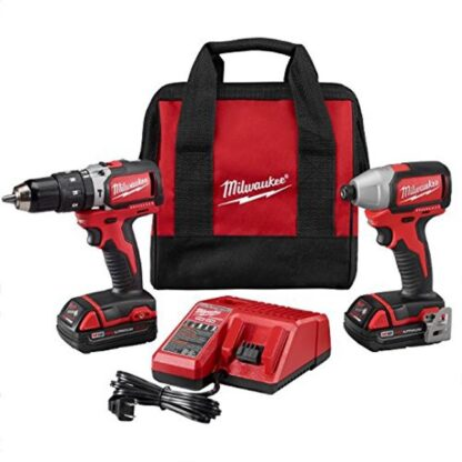 Milwaukee 2799-22CT M18 Compact Brushless Hammer Drill & Impact Driver Kit