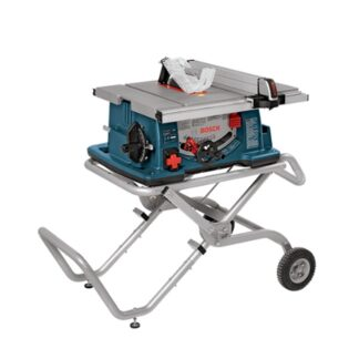 "Bosch 4100-10 10"" Worksite Table Saw with Gravity-Rise Wheeled Stand"