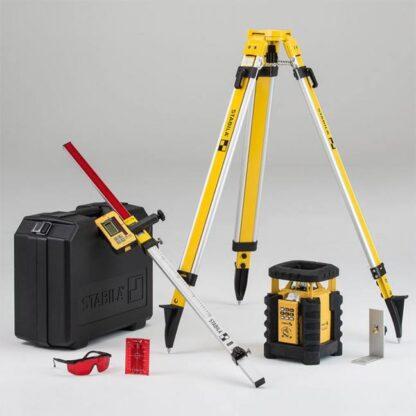 Stabila 05700 LAR350 Self-Leveling Interior Exterior Rotary Laser Kit
