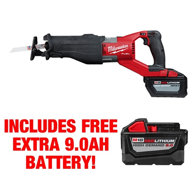 Milwaukee 2722-21HD M18 FUEL SUPER SAWZALL Kit FREE BATTERY