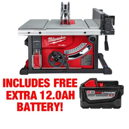 Milwaukee 2736-21HD M18 FUEL Table Saw with One-Key Kit FREE BATTERY