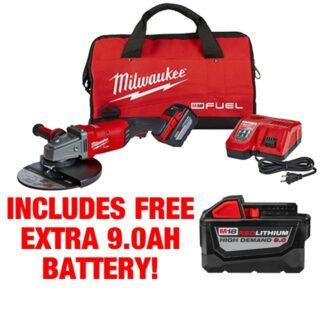 Milwaukee 2785-21HD M18 FUEL Large Angle Grinder Kit FREE BATTERY