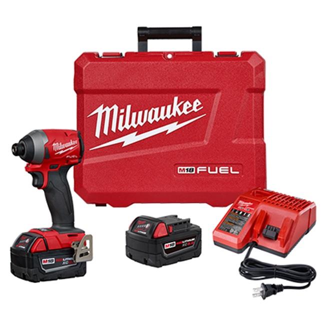 "Milwaukee 2853-22 M18 FUEL 1/4"" Hex Impact Driver Kit"