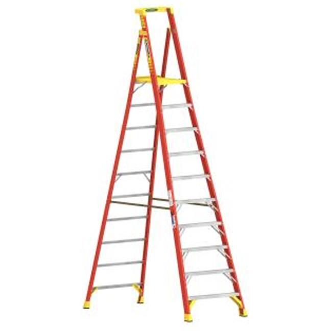 Werner PD6210CA 10FT Type IA Fiberglass Podium Ladder