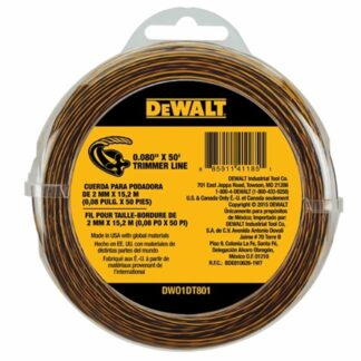"DeWalt DWO1DT801 0.080"" X 50ft Trimmer Line"