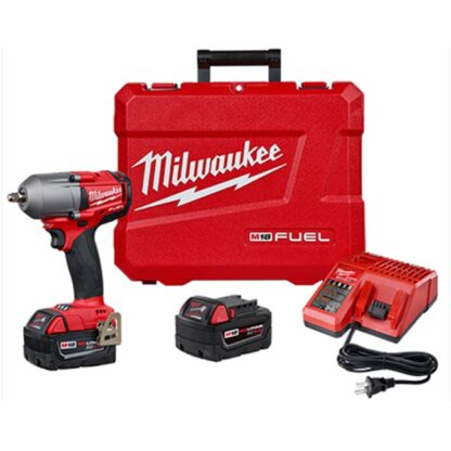 "Milwaukee 2852-22 M18 FUEL 3/8"" Mid-Torque Impact Wrench with Friction Ring Kit"