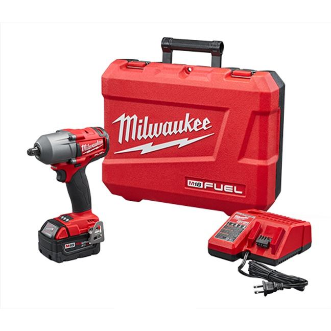 "Milwaukee 2860-21 M18 FUEL 1/2"" Mid-Torque Impact Wrench with Pin Detent Kit"