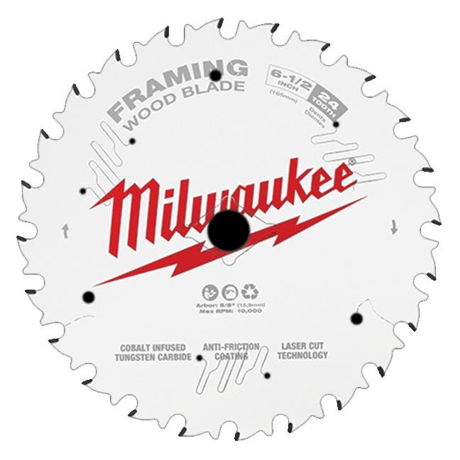 """Milwaukee 48-40-0620 6-1/2"""" 24T Framing Circular Saw Blade"""