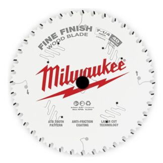 "Milwaukee 48-40-0726 7-1/4"" 40T Fine Finish Circular Saw Blade"