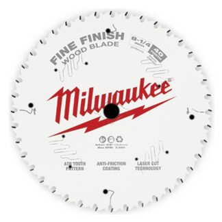 "Milwaukee 48-40-0822 8-1/4"" 40T Fine Finish Circular Saw Blade"