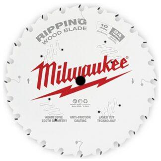 "Milwaukee 48-40-1020 10"" 24T Ripping Circular Saw Blade"