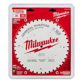 """Milwaukee 48-40-1024 10"""" 40T General Purpose Circular Saw Blade"""