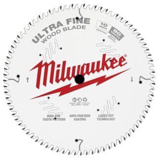 "Milwaukee 48-40-1032 10"" 80T Ultra Fine Finish Circular Saw Blade"