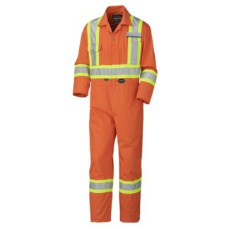 Pioneer 5513 Hi-Viz Industrial Wash Safety Poly/Cotton Coveralls