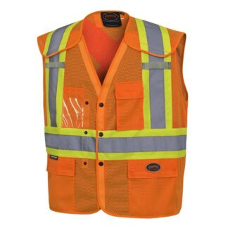 Pioneer 6938A Hi-Viz Drop Shoulder Safety Vest with Snaps