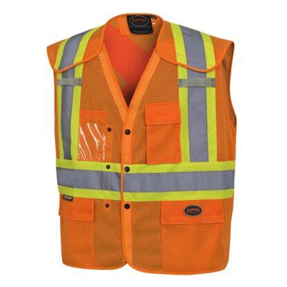 Pioneer 6938A Hi-Viz Drop Shoulder Safety Vest with Snaps