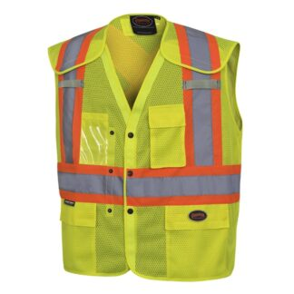 Pioneer 6939A Hi-Viz Drop Shoulder Safety Vest with Snaps