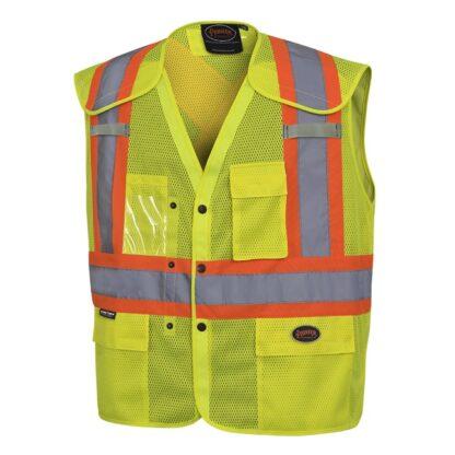 Pioneer 6939A Hi-Viz Drop Shoulder Safety Vest with Snaps