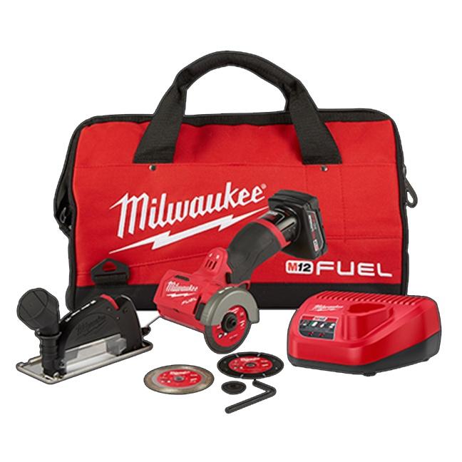"Milwaukee 2522-21XC M12 FUEL 3"" Compact Cut Off Tool Kit"