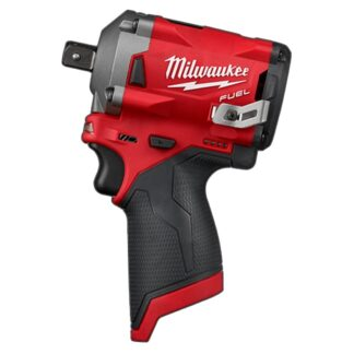 "Milwaukee 2555P-20 M12 FUEL 1/2"" Stubby Impact Wrench with Pin Detent"
