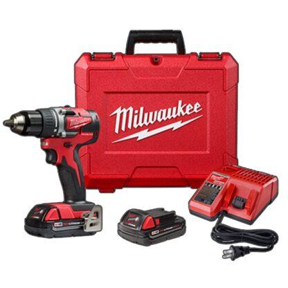 "Milwaukee 2801-22CT M18 Compact Brushless 1/2"" Drill Driver Kit"