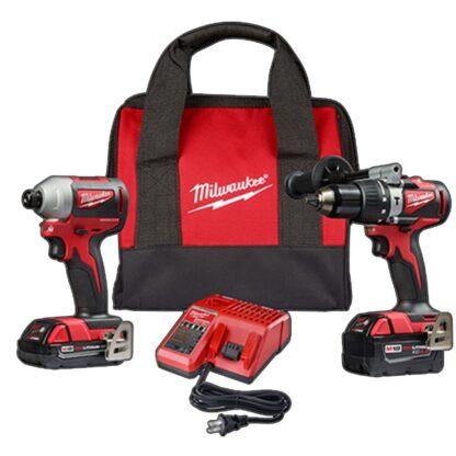 Milwaukee 2893-22CX M18 Brushless 2-Tool Combo Kit