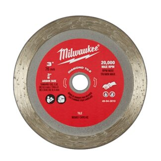 "Milwaukee 49-94-3010 3"" Diamond Tile Blade"