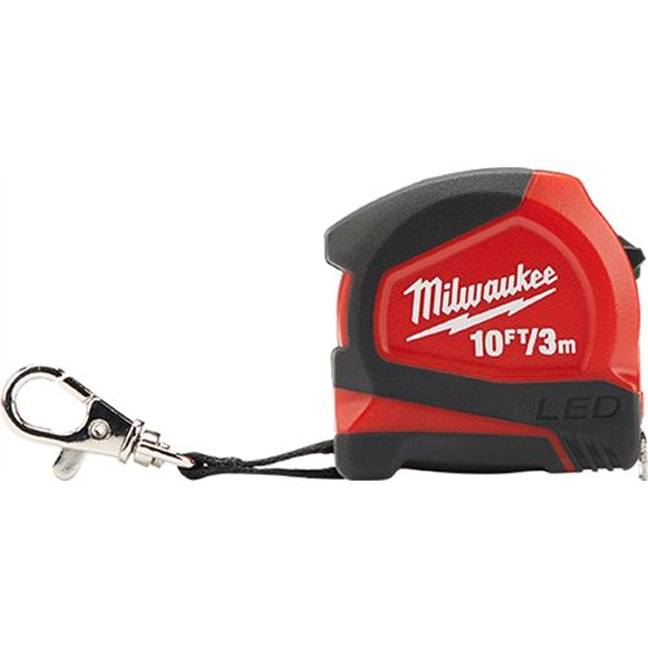 Milwaukee 48-22-6601 10ft/3m Keychain Tape Measure with LED