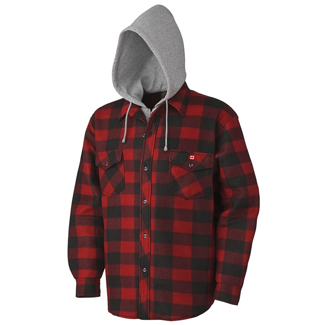 Pioneer 415RB V3080397 Quilted Hooded Polar Fleece Shirt