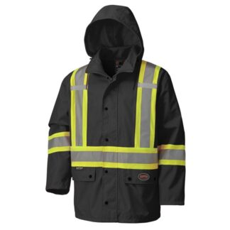 Pioneer 5585BK V1110670 450D Hi-Viz 100% Waterproof Jacket - Black