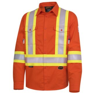 Pioneer 7743 FR-Tech Flame Resistant 7oz Hi-Viz Safety Shirt