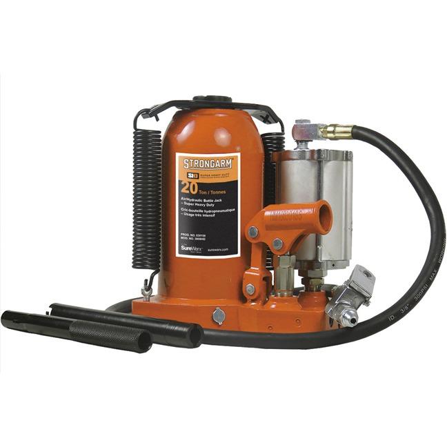 Strongarm 030159 20 Ton Air Hydraulic Bottle Jack - Super Heavy Duty