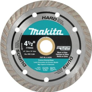"Makita A-94596 4-1/2"" Turbo Hard Material Diamond Blade"