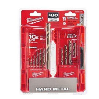 Milwaukee 48-89-2331 15-Piece Cobalt Red Helix Secure Grip Drill Bit Set