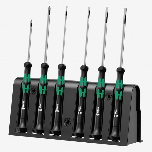 Wera 118152 Kraftform Micro Slotted/Phillips Precision Screwdriver Set + Rack