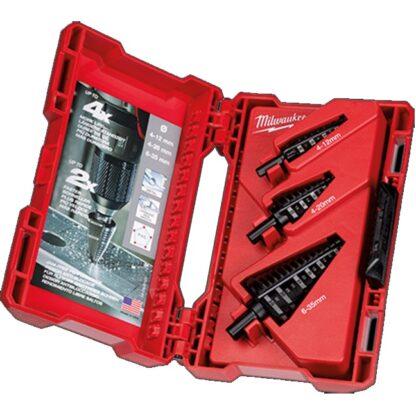 Milwaukee 48-89-9399 Step Drill Bit Set Metric - 3PC