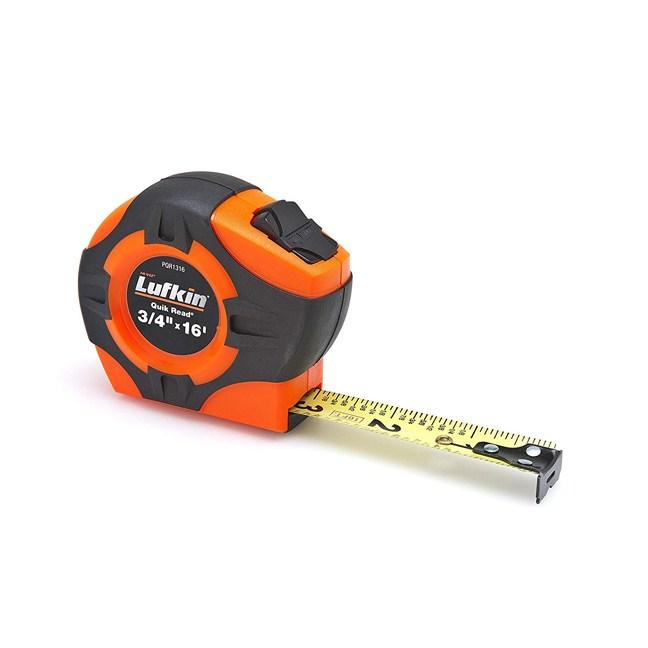 """Lufkin PQR1316 3/4""""x16' Quickread Hi-Viz Orange Power Return Tape"""