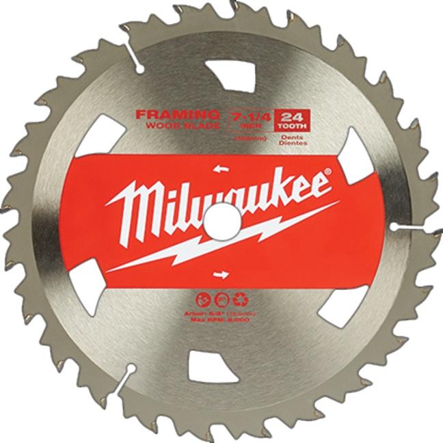 "Milwaukee 48-41-0710 7-1/4"" 24T Basic Framer Circular Saw Blades"