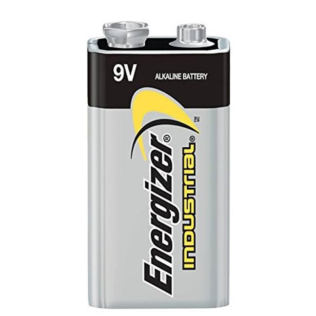 Energizer EN22 9V Alkaline Industrial Batteries 12-Pack