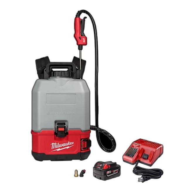 Milwaukee 2820-21CS M18 SWITCH TANK 4-Gallon Backpack Concrete Sprayer Kit