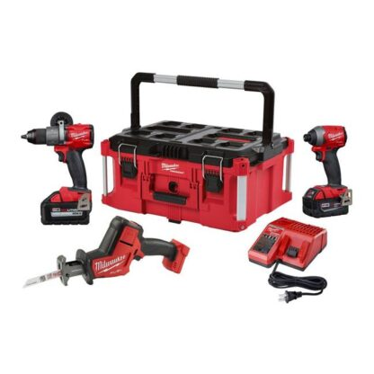 Milwaukee 2997-23POC M18 FUEL 3-Tool Combo Kit with Packout Large Tool Box