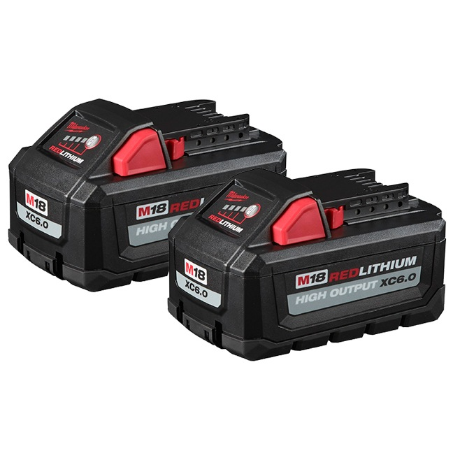 Milwaukee 48-11-1862 M18 REDLITHIUM HIGH OUTPUT XC6.0 Battery Pack (2 Pk)