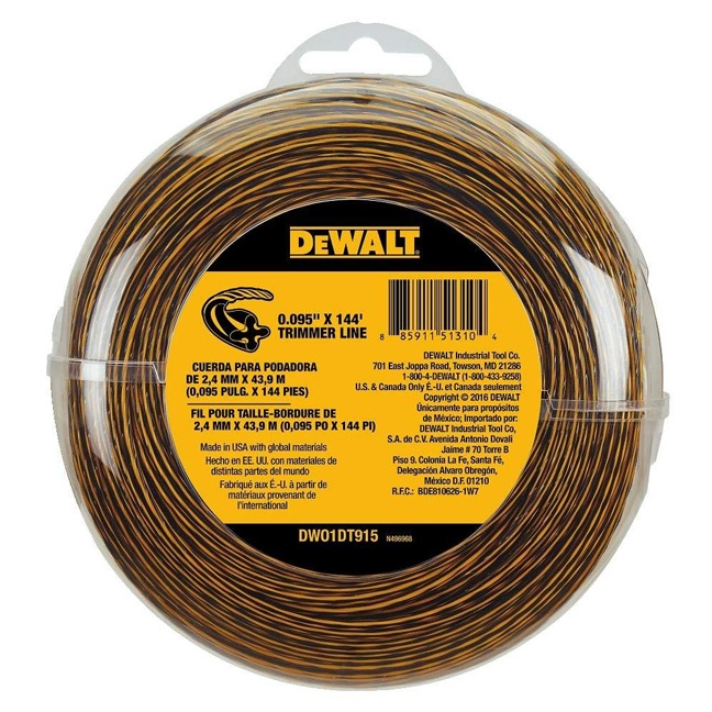DeWalt DW01DT915 String Trimmer Line 144' x 0.095""