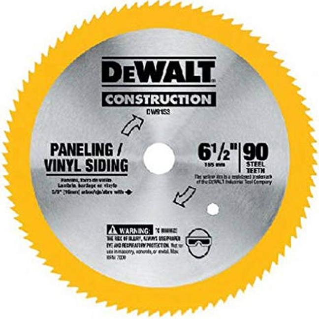 "DeWalt DW9153 6-1/2"" 90T Paneling and Vinyl Cutting Saw Blade"
